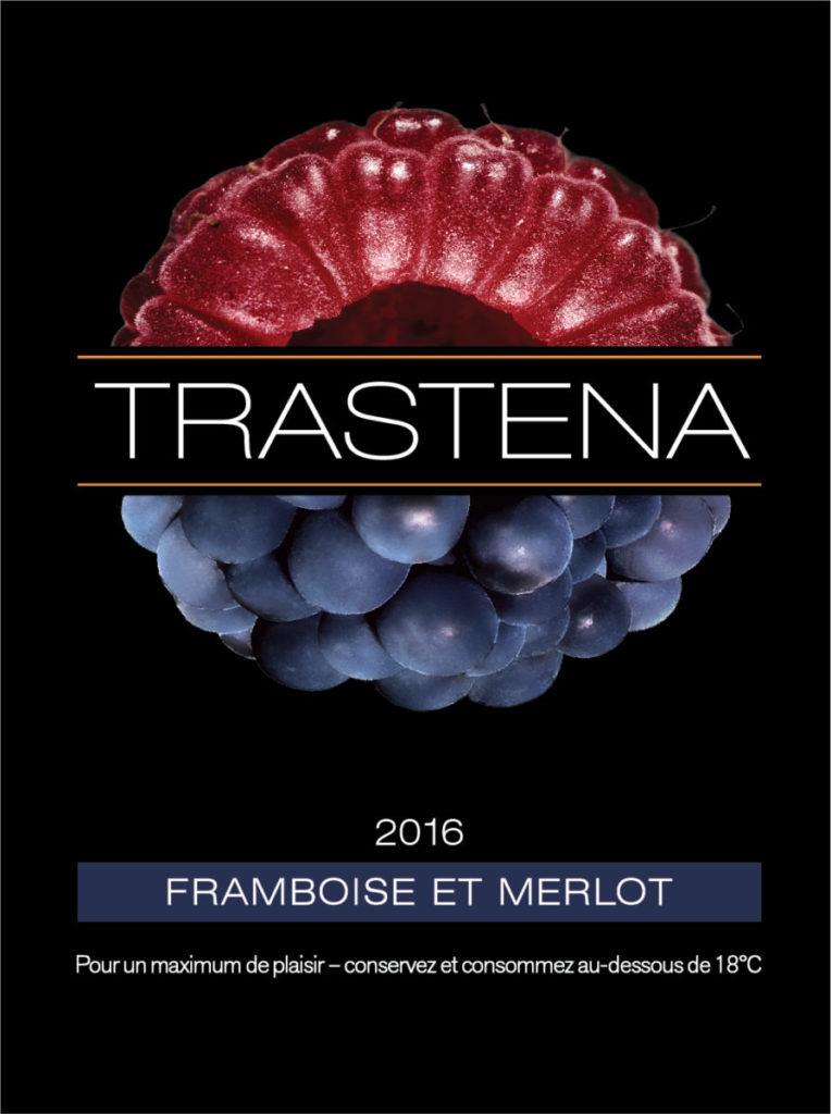 Vin 50% framboise bio et 50% merlot.