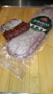 DRIANOVSKA   Saucisson sec de porc et boeuf aux cumin.