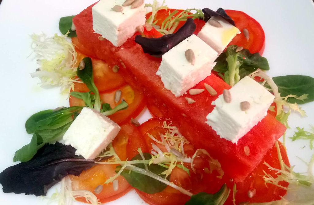 Salade tomate pastèque