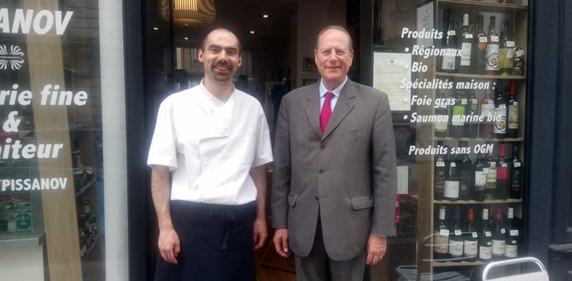 Visite de M. le Maire du 15e Philippe Goujon au Restaurant